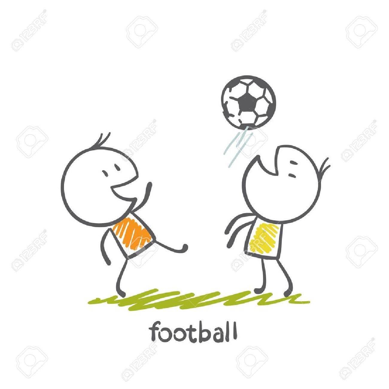 man playing football illustration Standard-Bild - 36068107