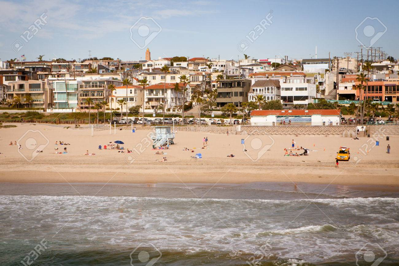 Manhattan Beach On A Warm Sunny Day In Los Angeles California Stock Photo Picture And Royalty Free Image Image 23170826