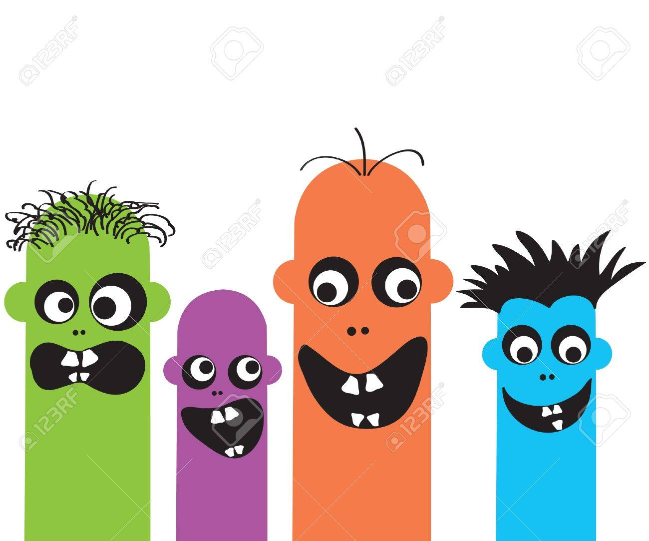 Funny cartoon monsters Stock Vector - 9805037