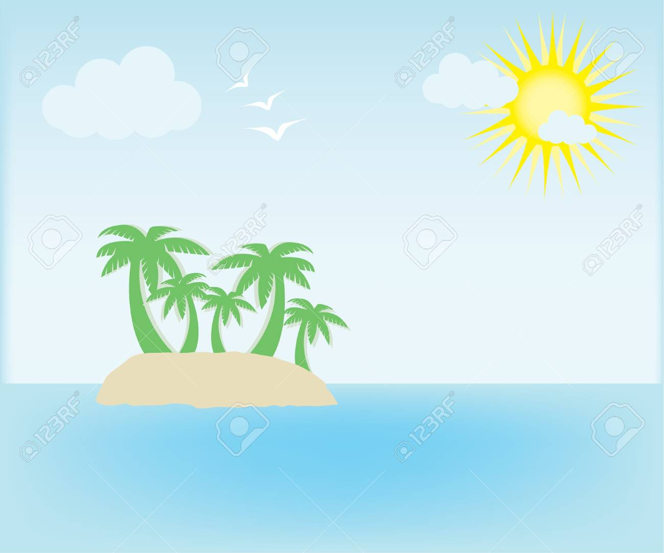 Summer island Stock Vector - 10014731