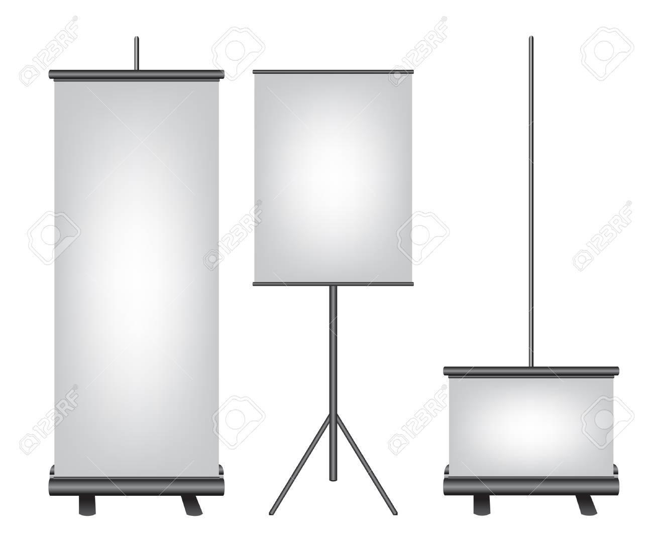 Roll up banner black illustration Stock Vector - 12063388