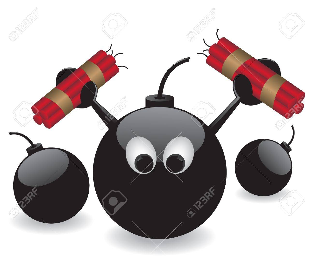 Bomb and dynamite illustration Stock Vector - 13909023