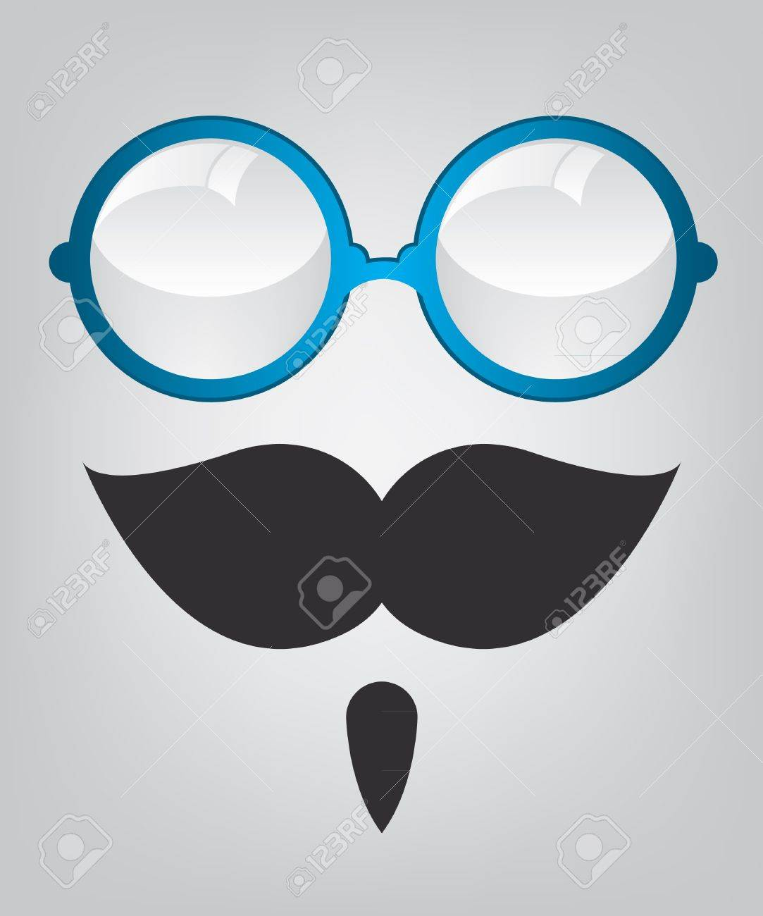 Funny mask blue sunglasses and mustache Stock Vector - 16535680
