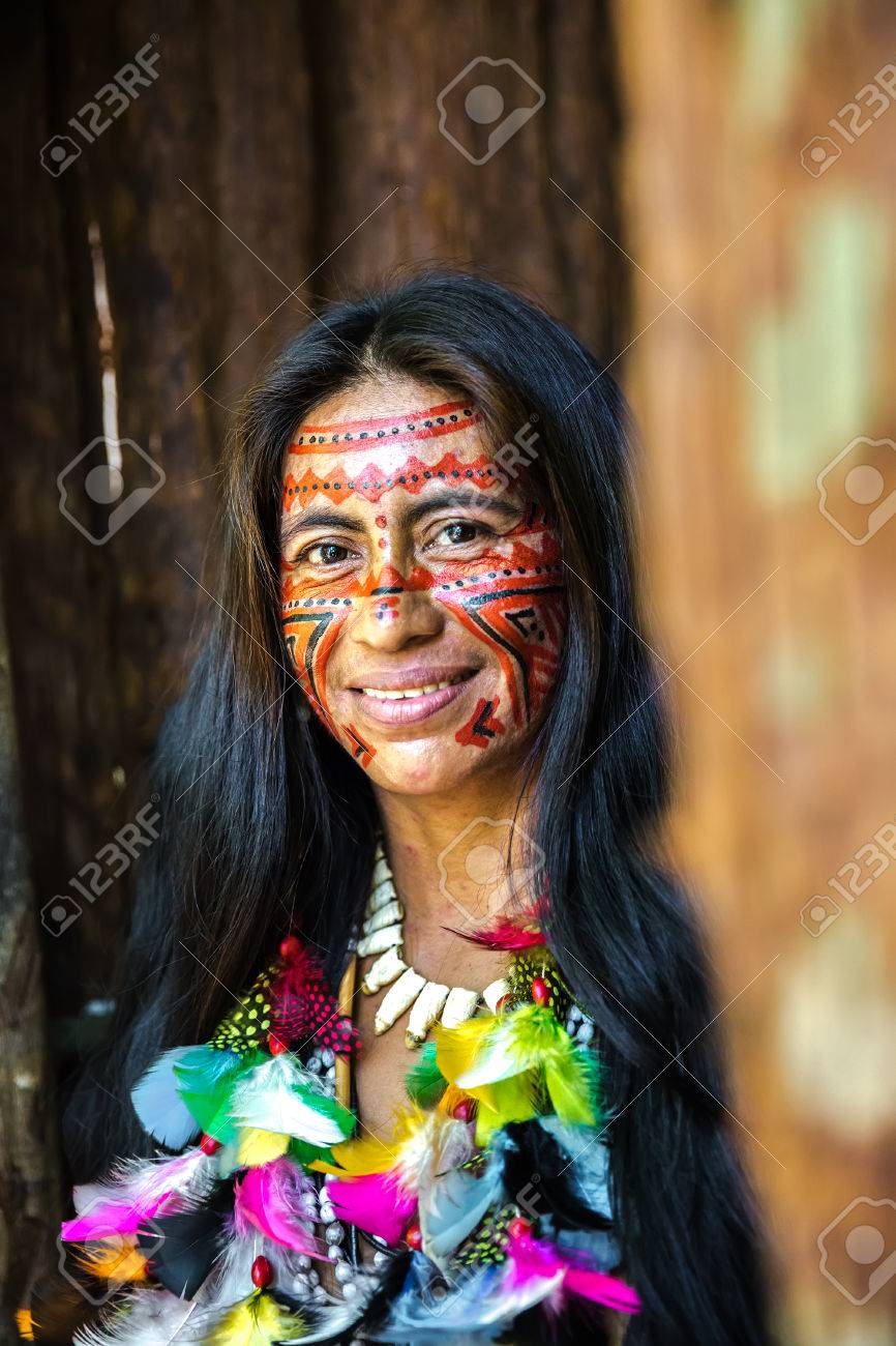 brazilian indians in the amazon, brazil stock photo, picture and