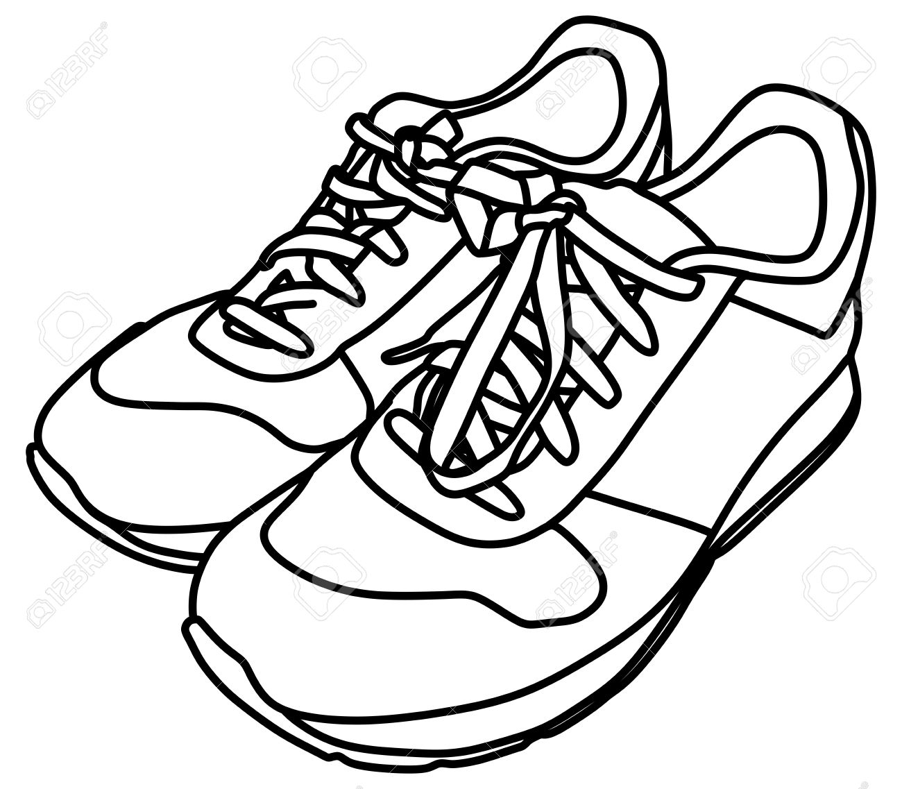 tying sports shoes royalty free cliparts vectors and stock rh 123rf com shoes clipart free shoes clipart png