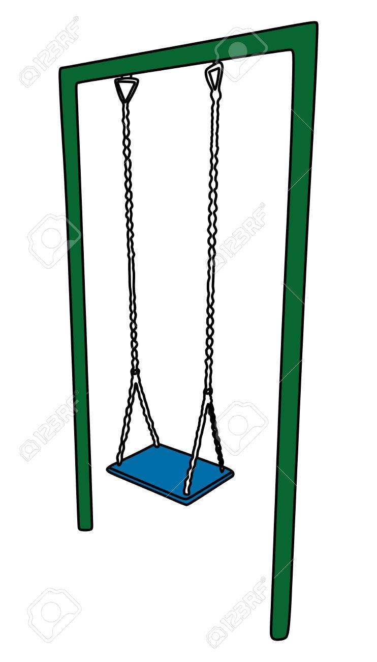 Vector Illustration Of A Playground Swing Set Royalty Free Cliparts