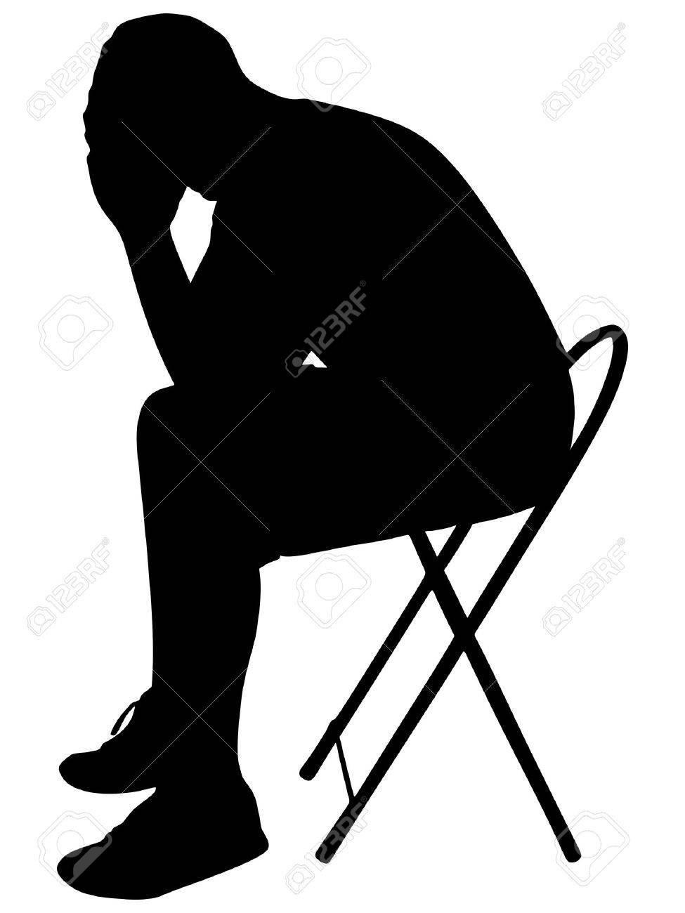 Stock Illustration - Cartoon worried man. Clipart Illustrations gg68708670  - GoGraph