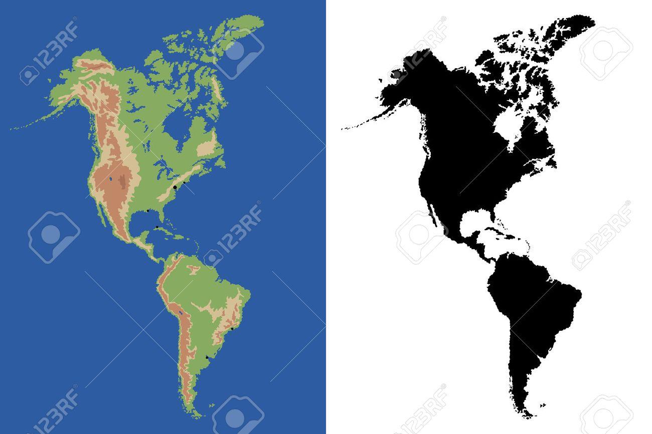 North America Map Vector Free