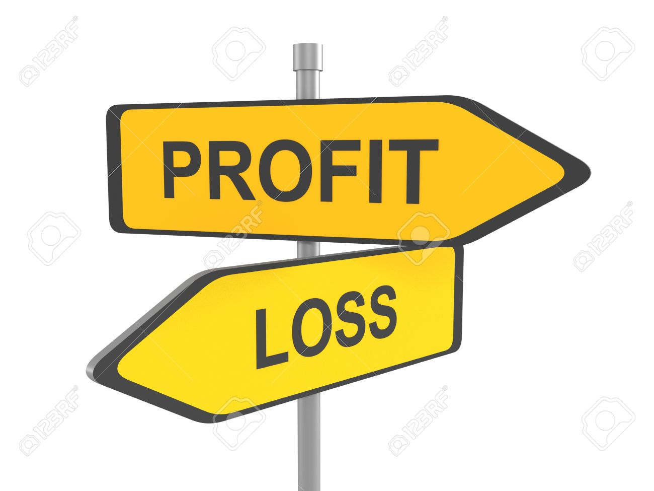 profit or loss road sign profit or loss win or loose financial