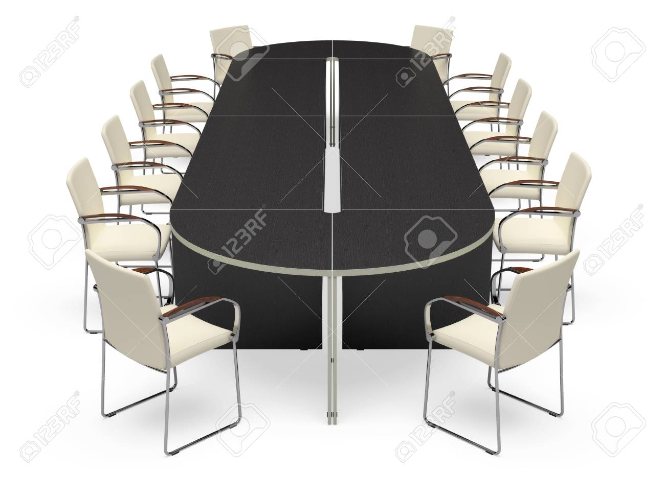 Office desk on a white background. It's 3D image. Stock Photo - 8736611