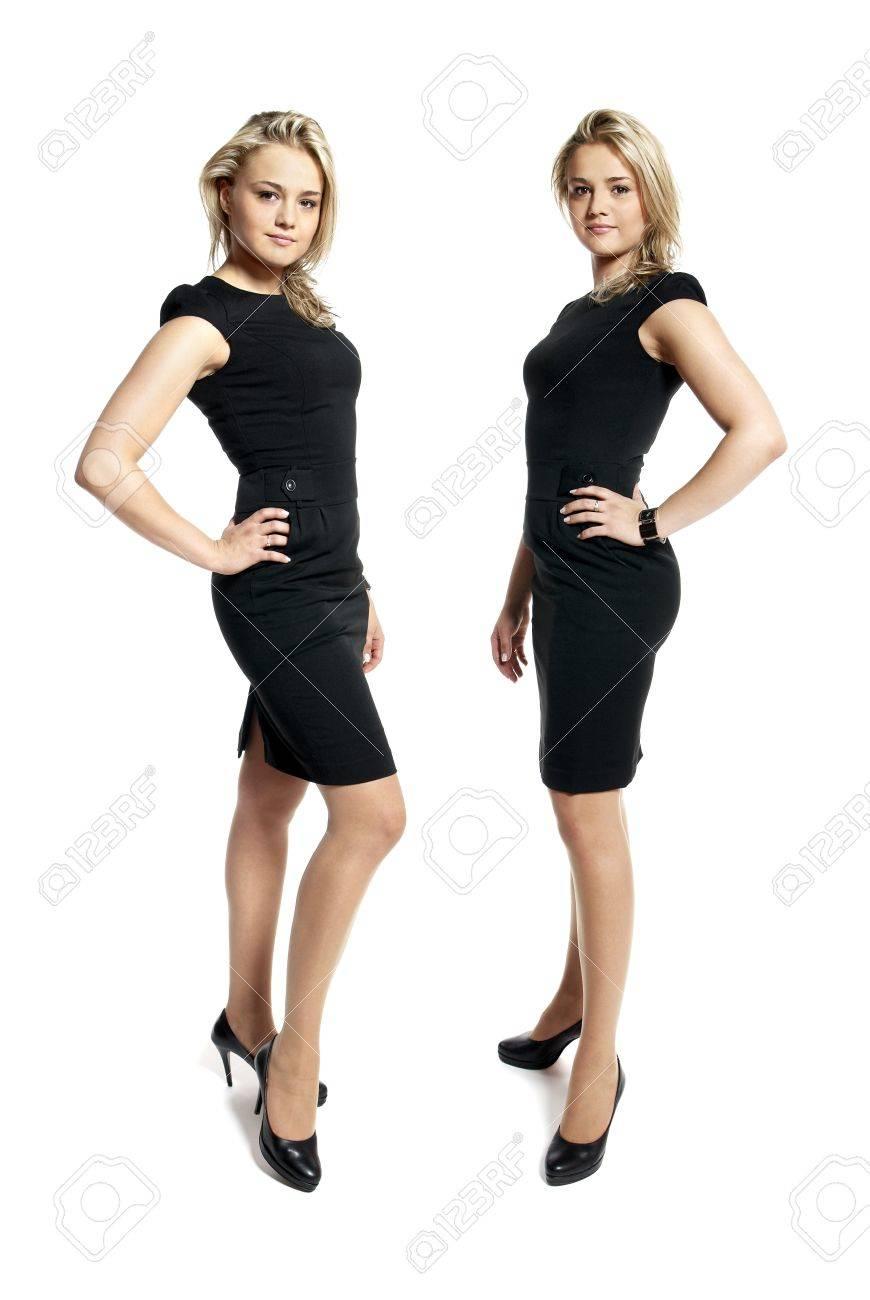 Chicas con vestido negro