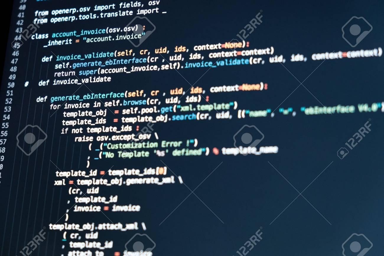 Programmiercode Für Softwareentwickler. Abstraktes Computerskript ...