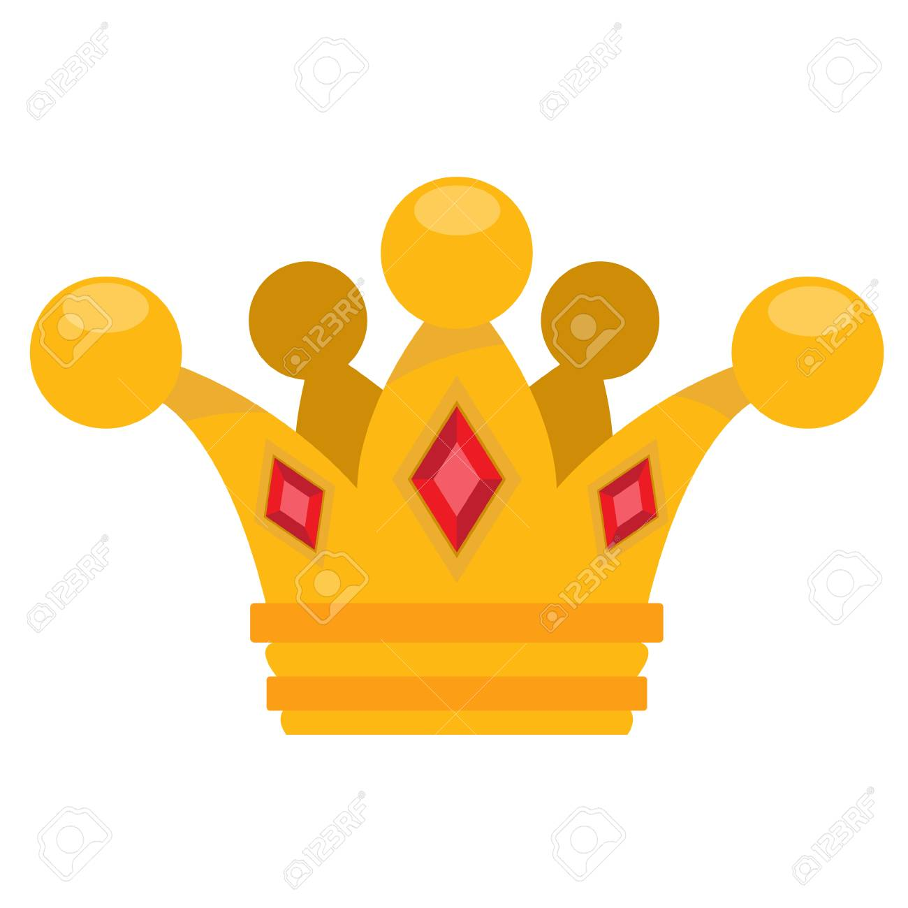 Gold Crown Logo Cartoon Headdress King Illustration For The Royalty Free Cliparts Vectors And Stock Illustration Image 70842432 Cartoon medieval characters fairy tale king queen vector. gold crown logo cartoon headdress king illustration for the