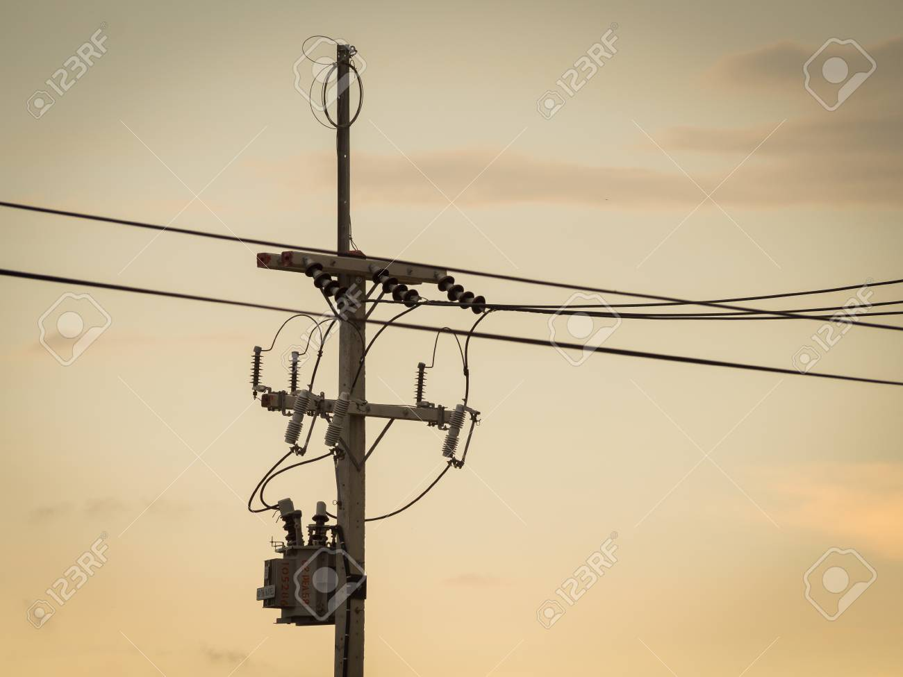 Electric Pole : Electrical Power Poles In The Electricity Needed ...
