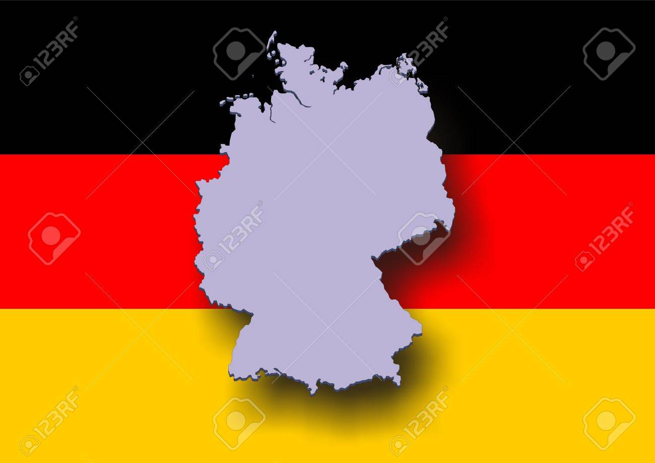 Maps Update 8001084 Map of Germany in German German States and – German Map