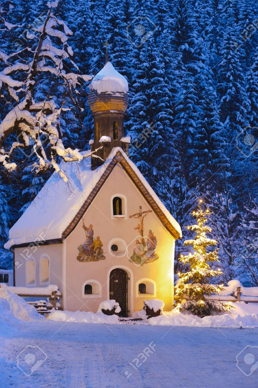 Winter Church Scene Stock Photos & Pictures. Royalty Free Winter ...