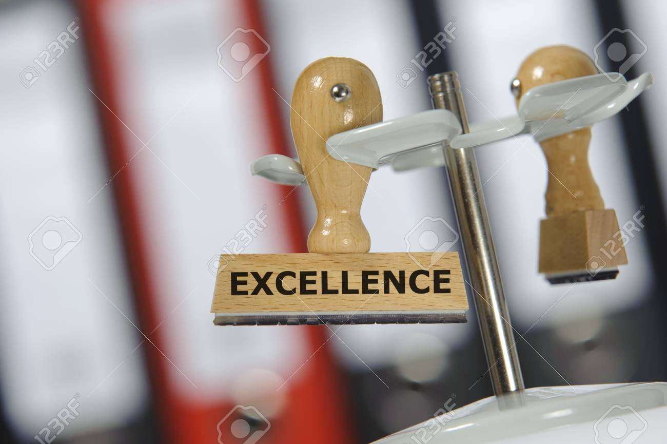 rubber stamp marked with EXCELLENCE Stock Photo - 11489798