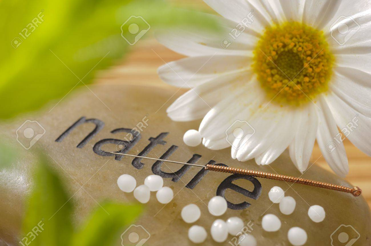 alternative medicine with homeopathy, globules and acupunkture - 13273055