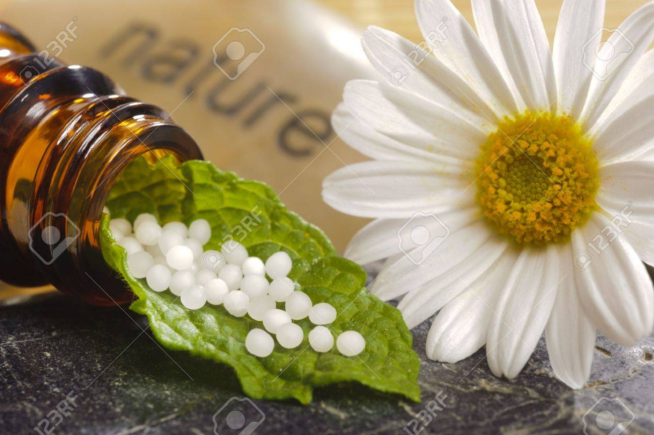 alternative medicine with homeopathy and globules - 13273070