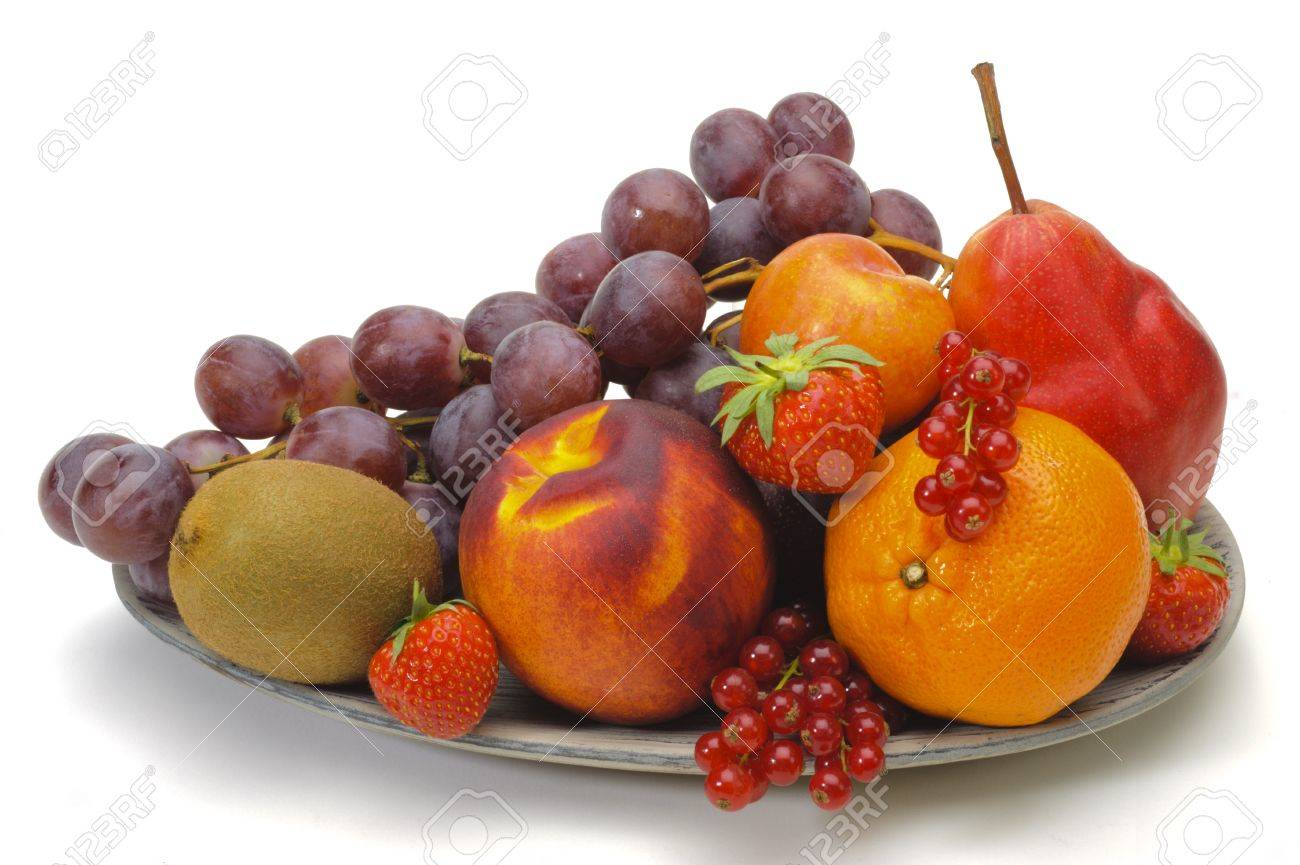 fresh fruits isolated over white background Stock Photo - 13273057