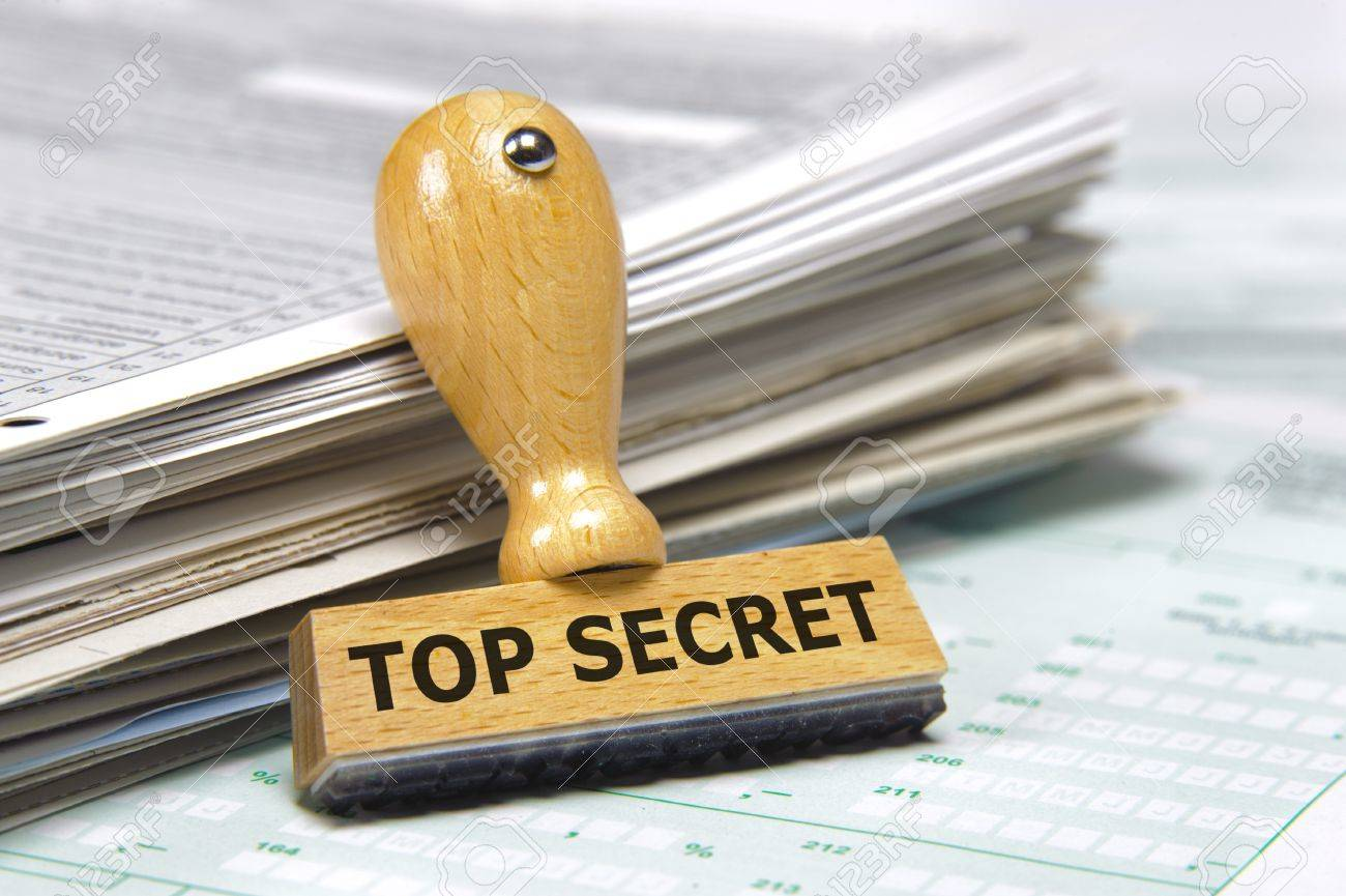 rubber stamp marked with top secret Stock Photo - 14355378