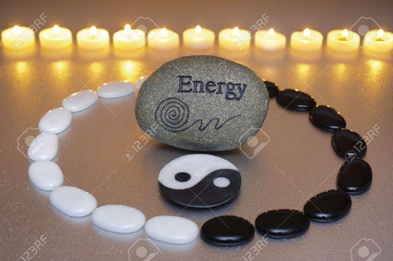 zen garden with yin and yang Stock Photo - 17815662