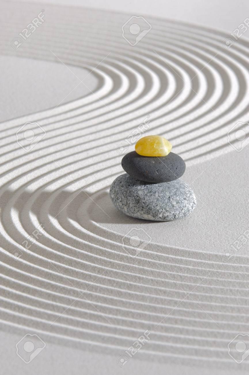 Japanese ZEN garden with stacked stones - 27992356