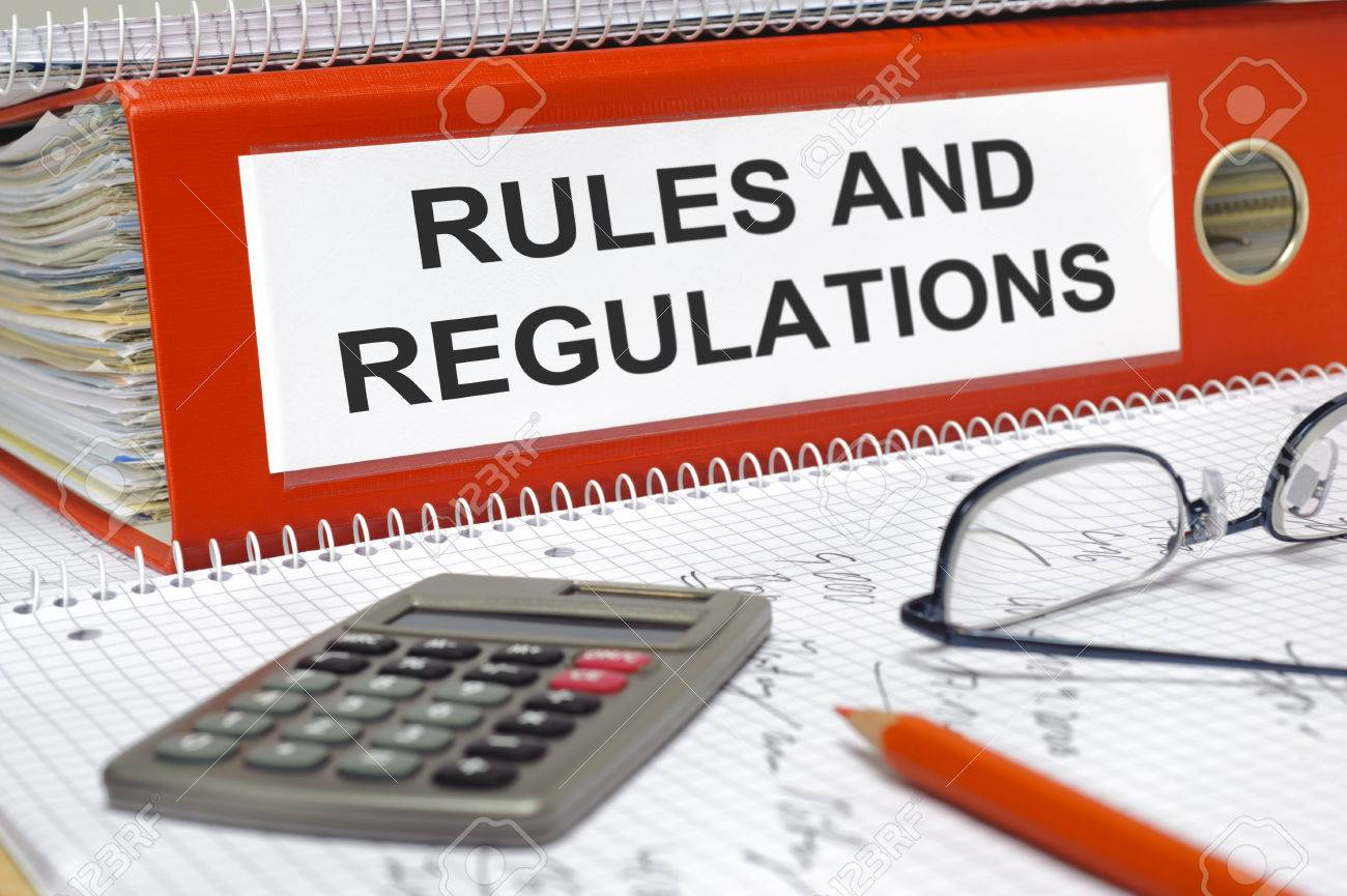 rules and regulations written on folder - 29370523