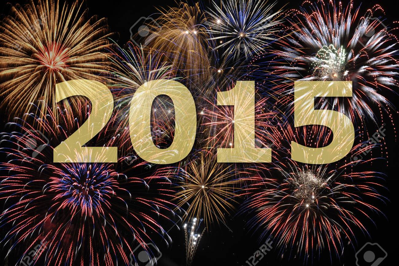 fireworks at new year s eve 2015 - 30507699