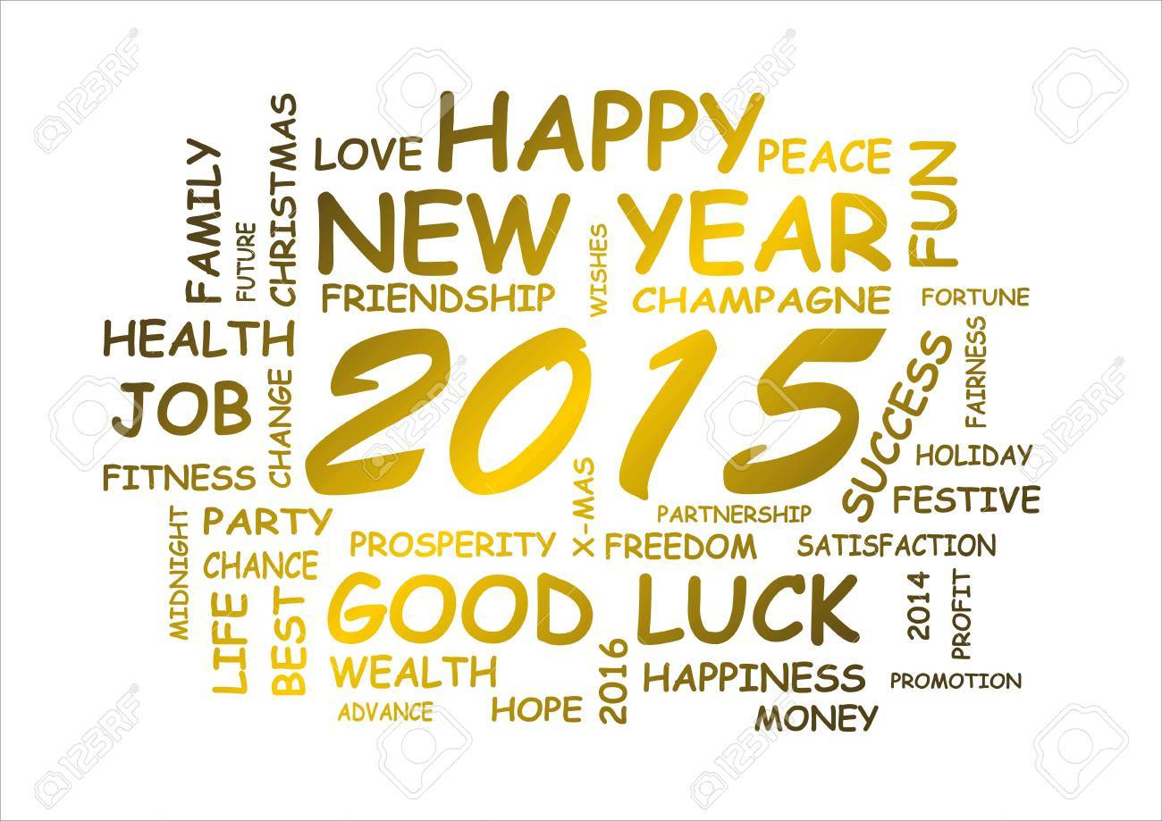 word cloud for new year 2015 - 30507709
