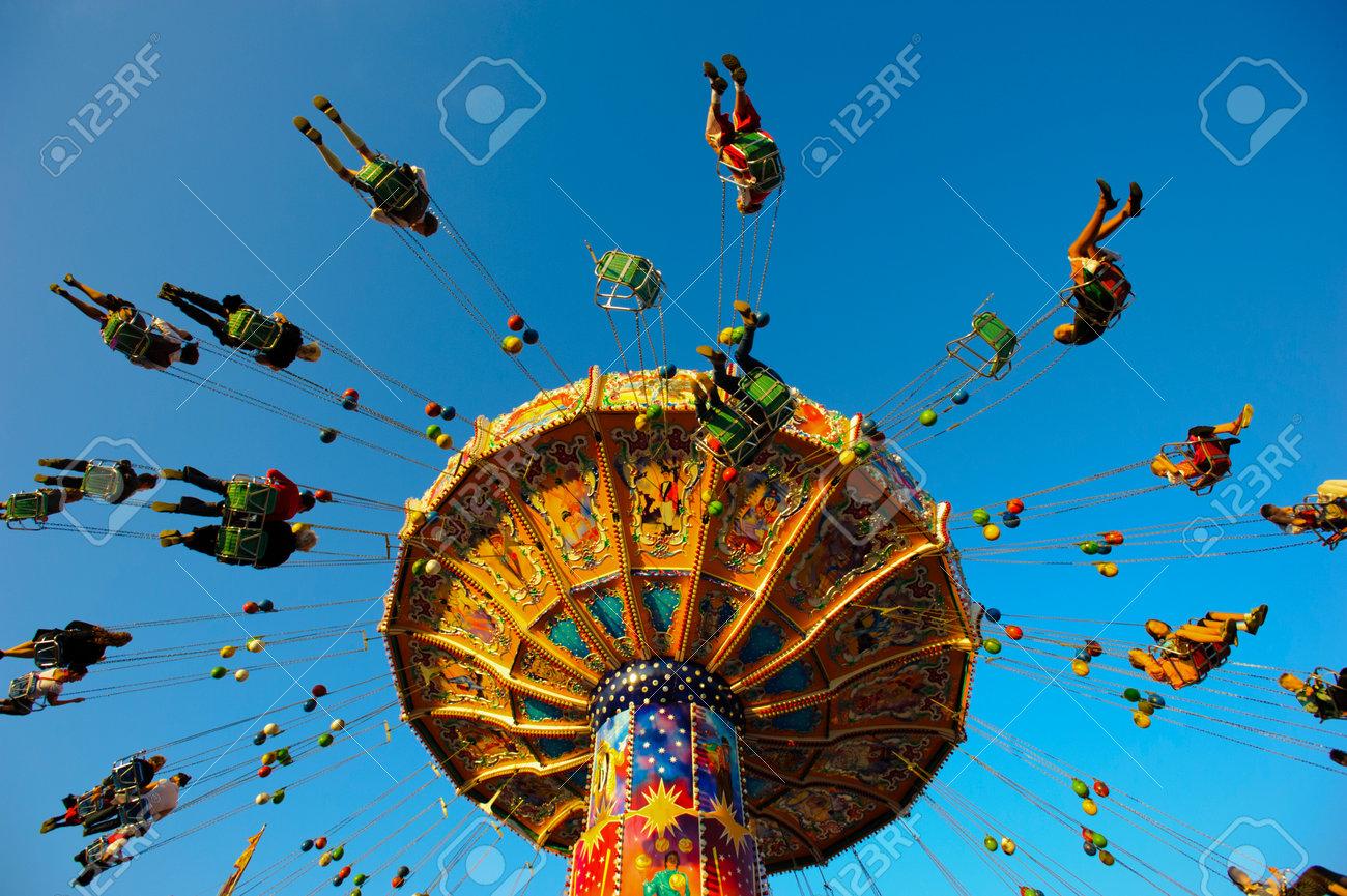 carousel at Oktoberfest in Munich - 35206260