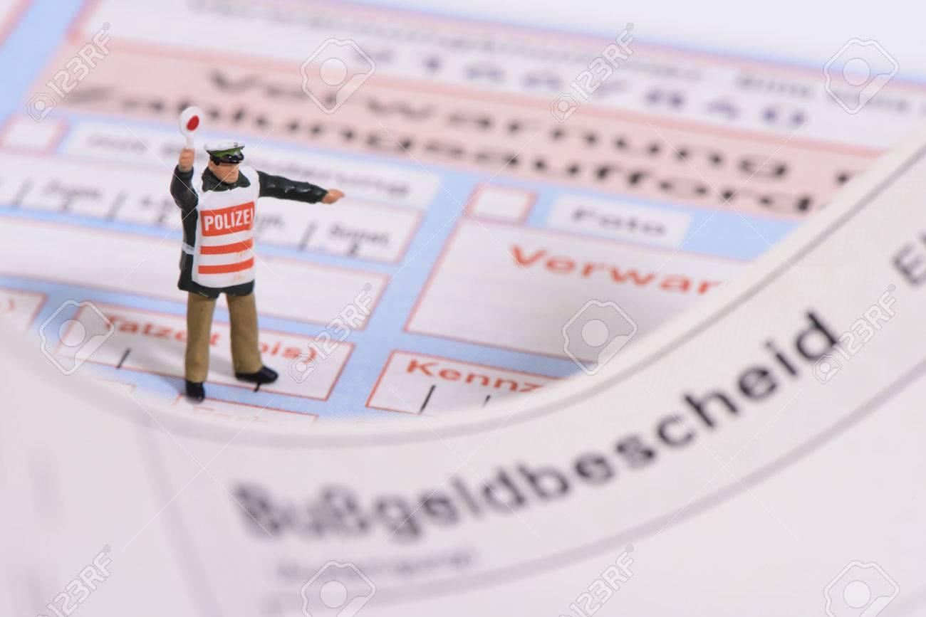 traffic ticket from german police - 37575886