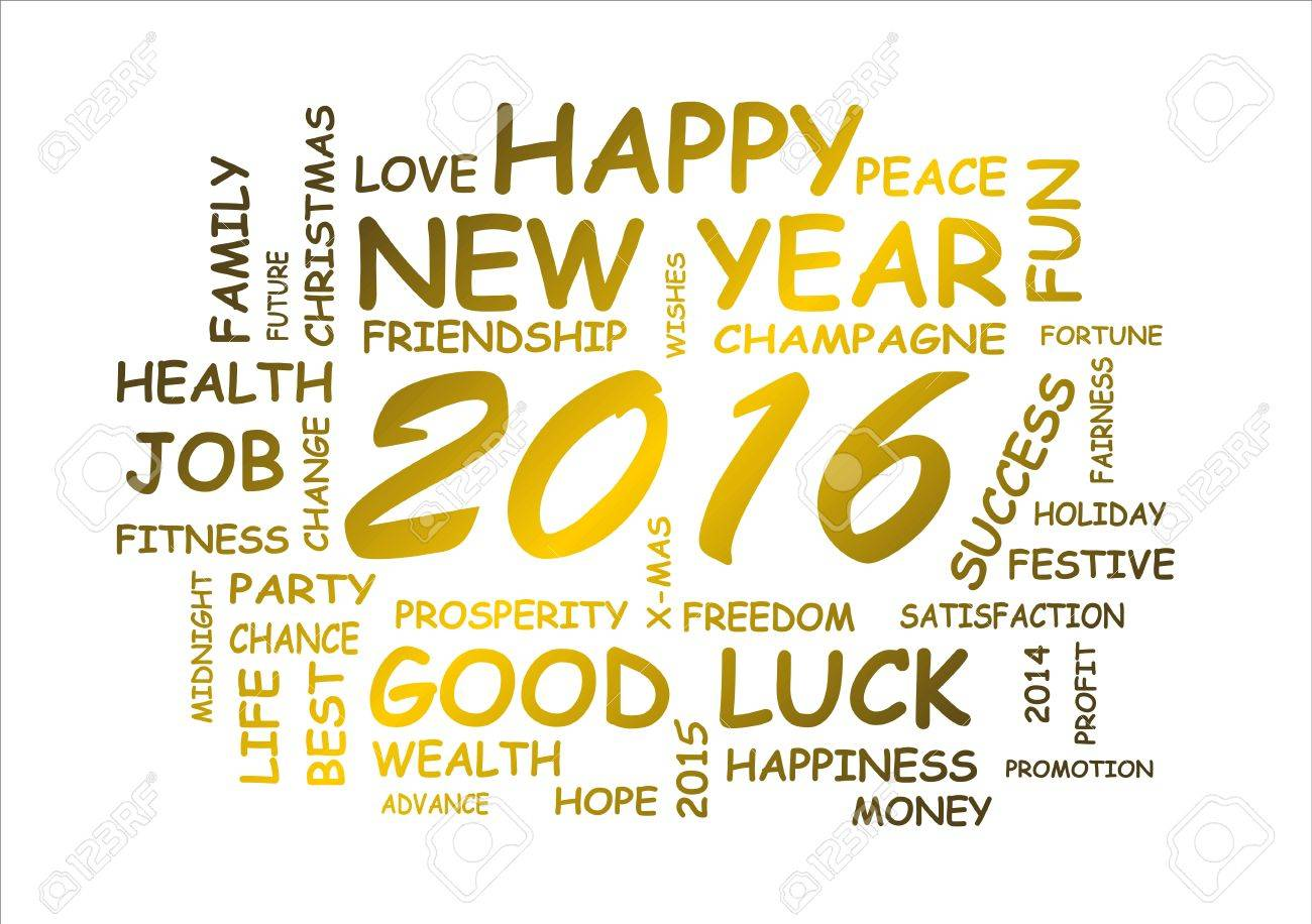 word cloud for happy new year 2016 - 47271758