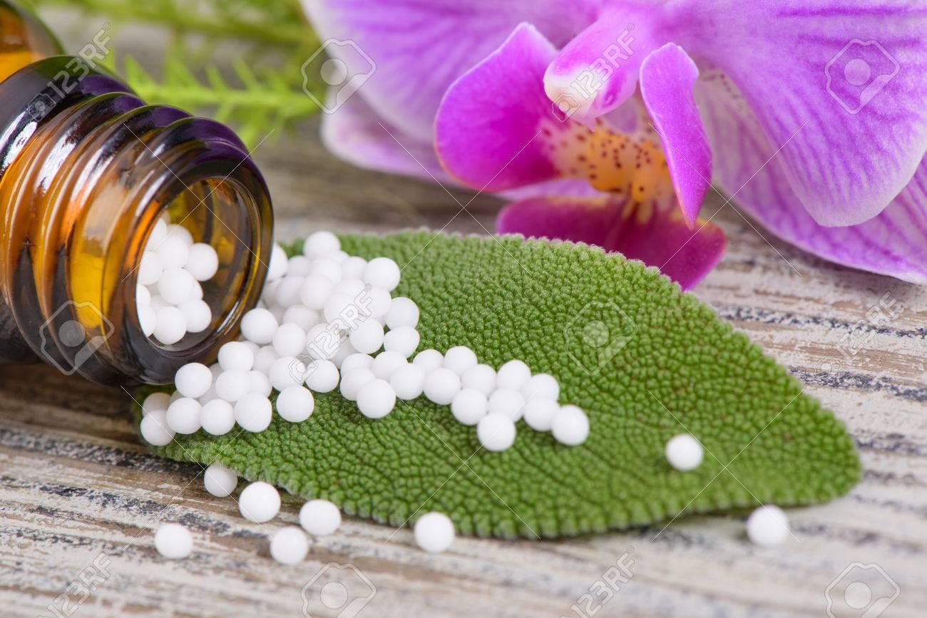 alternative medicine with herbal pills - 48965009
