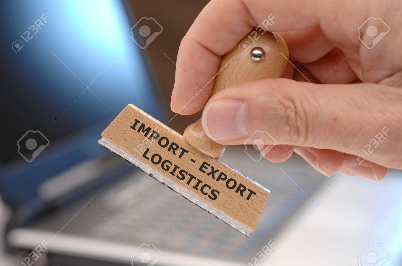 Importación - Exportación De Logística Imprimen En Sello De Goma ...