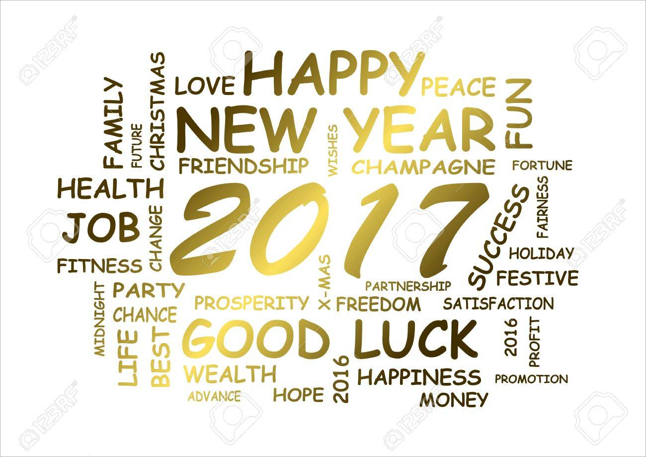 Frohes Neues Jahr 2017 Mit Grüße Und Wünsche Lizenzfreie Fotos ...