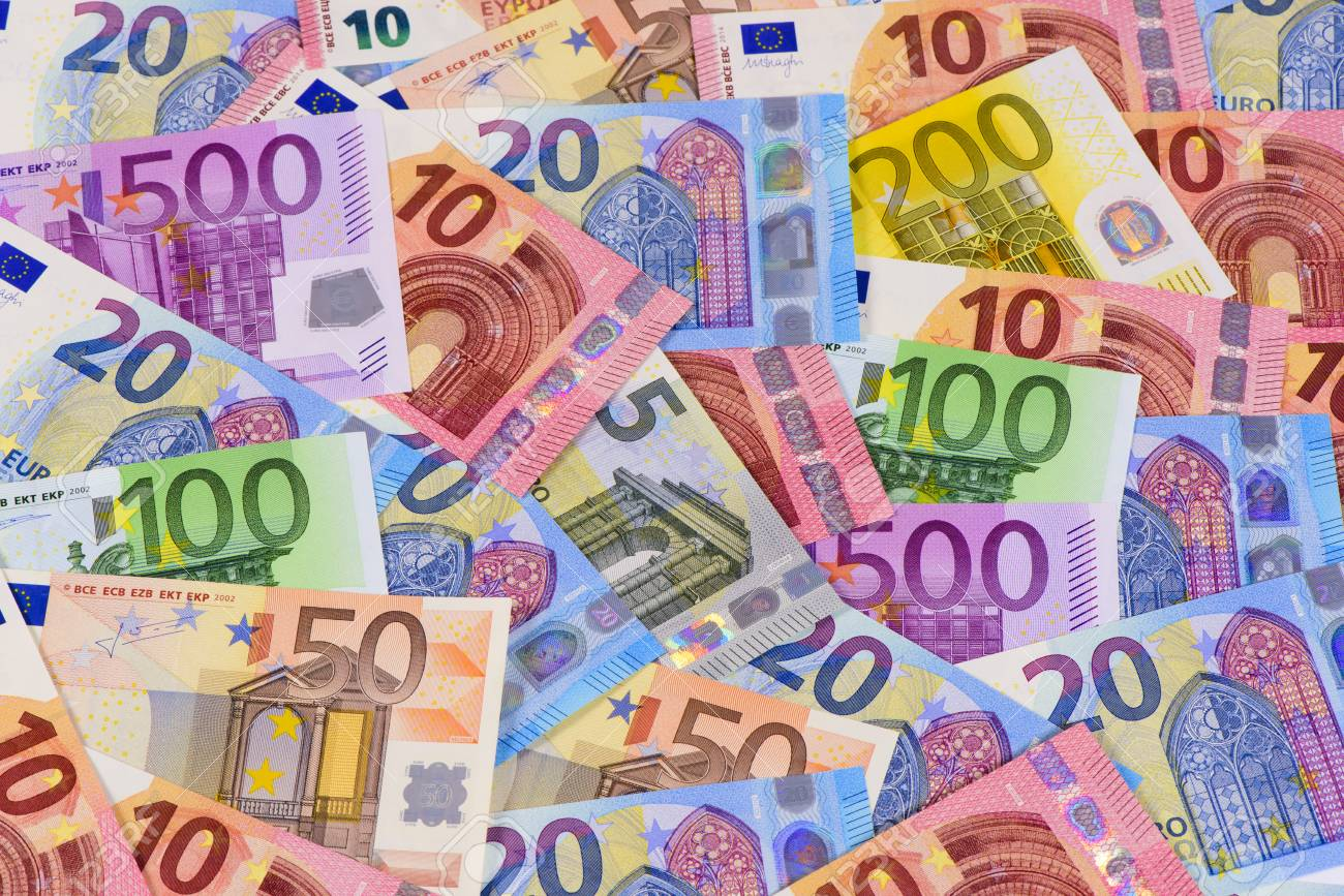 Euro cash currency - 73495897