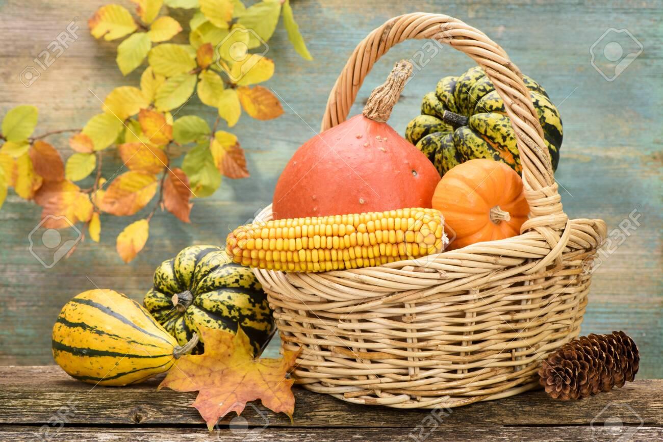 beautiful arrangement of autumn decoration - 128000900