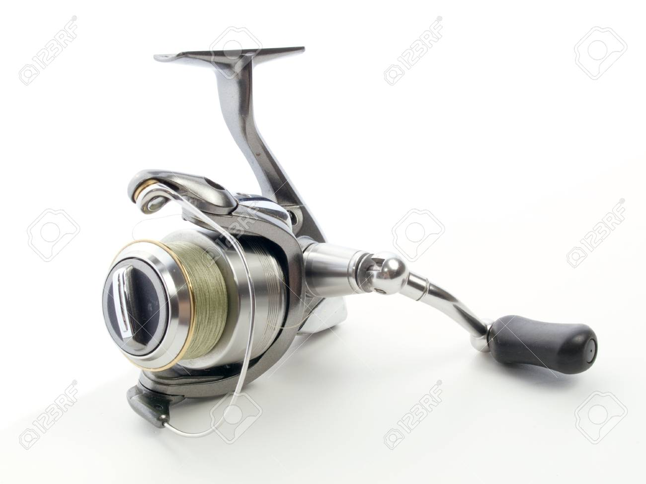 Fishing reel isolated on white Stock Photo - 6955871