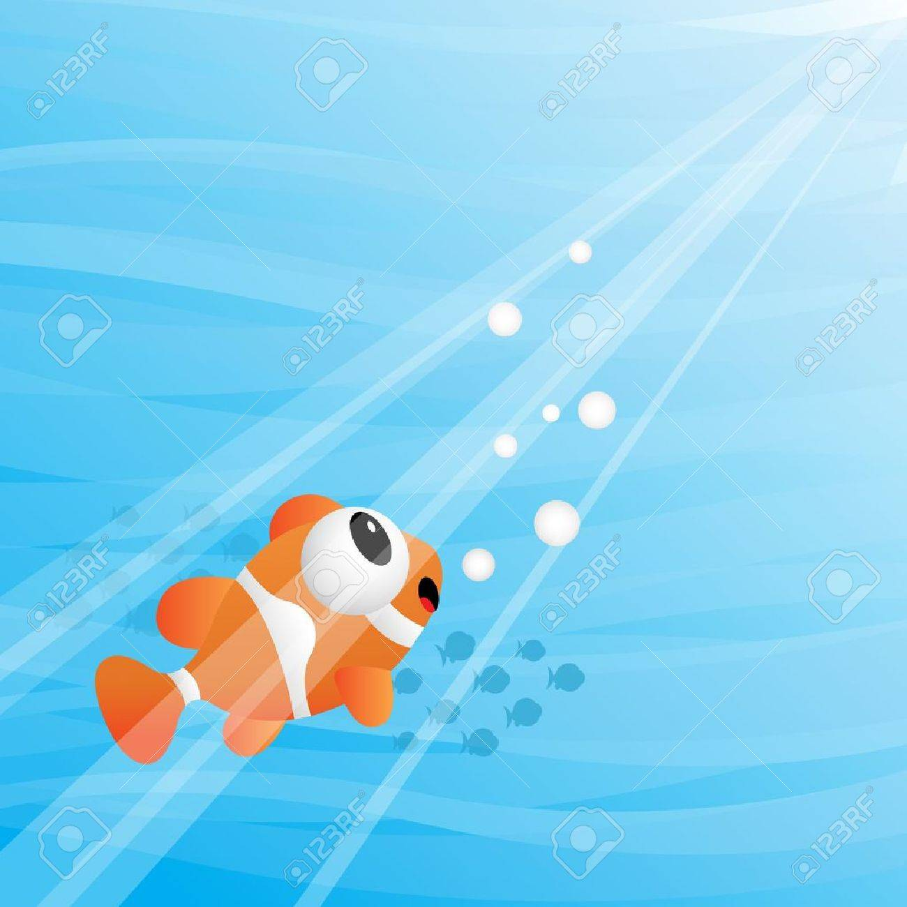 Tropical fish under water Stock Vector - 11218578