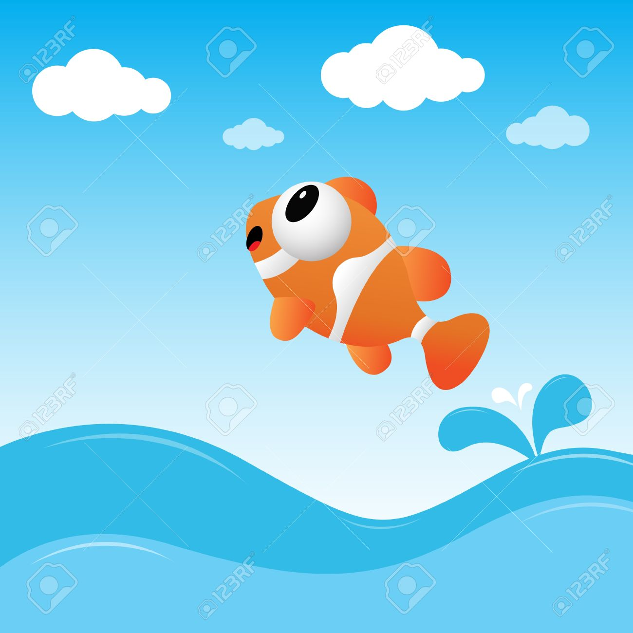 Fish jumping out of the water - 11218460