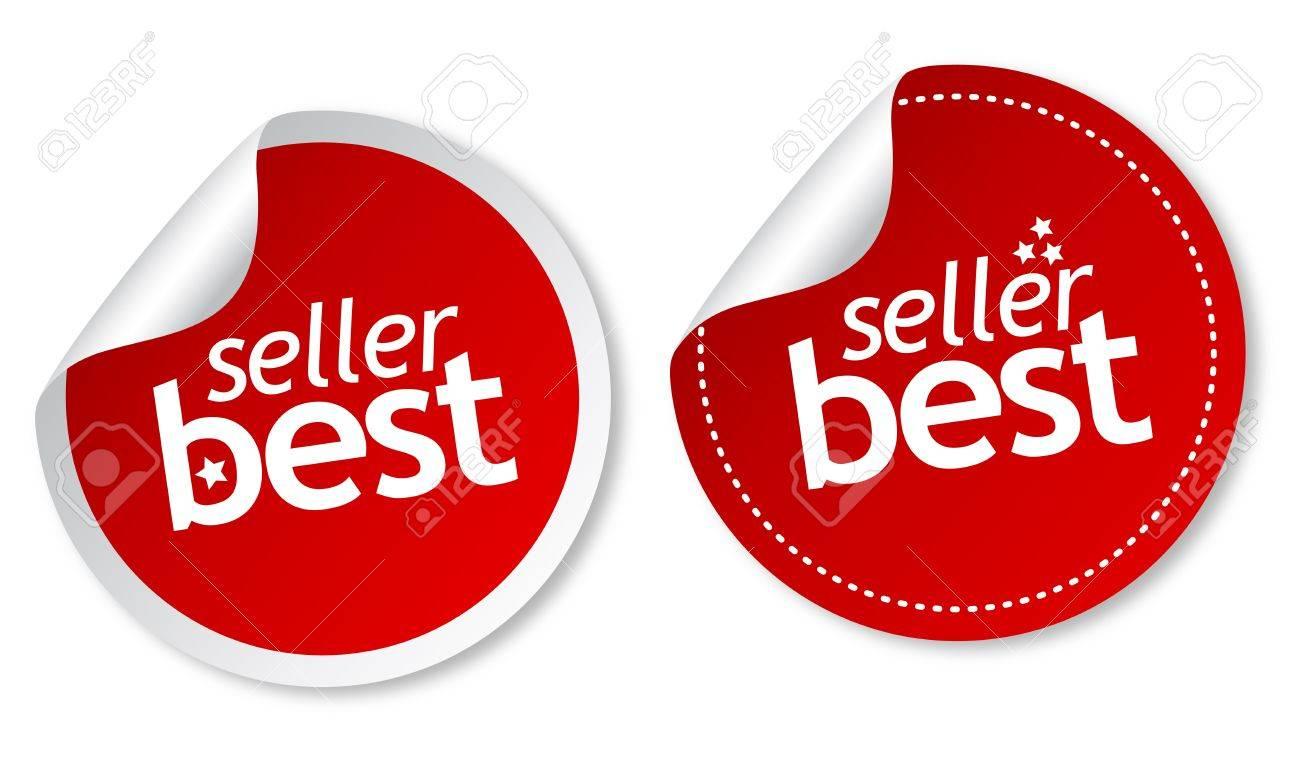 Best seller stickers Stock Vector - 11313260