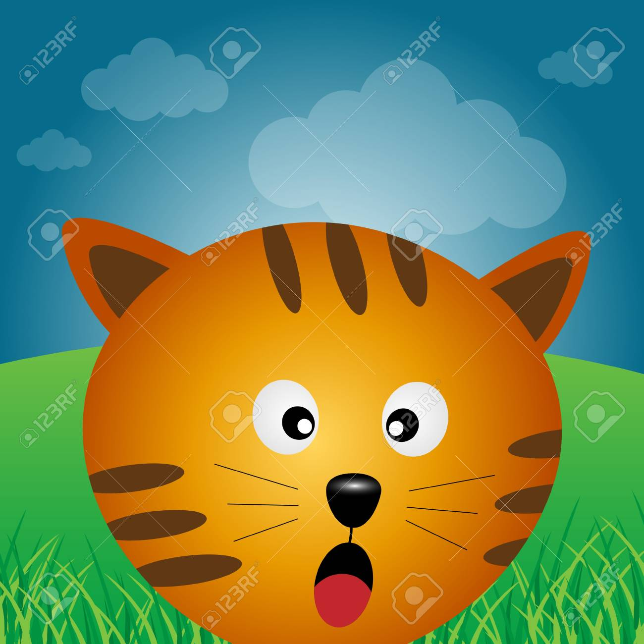 Cat in the forest Stock Vector - 11877378