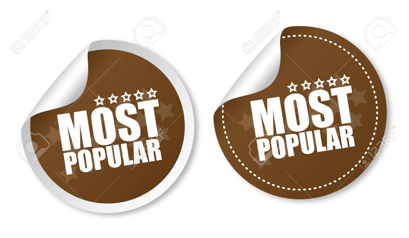Most popular stickers Stock Vector - 13000282