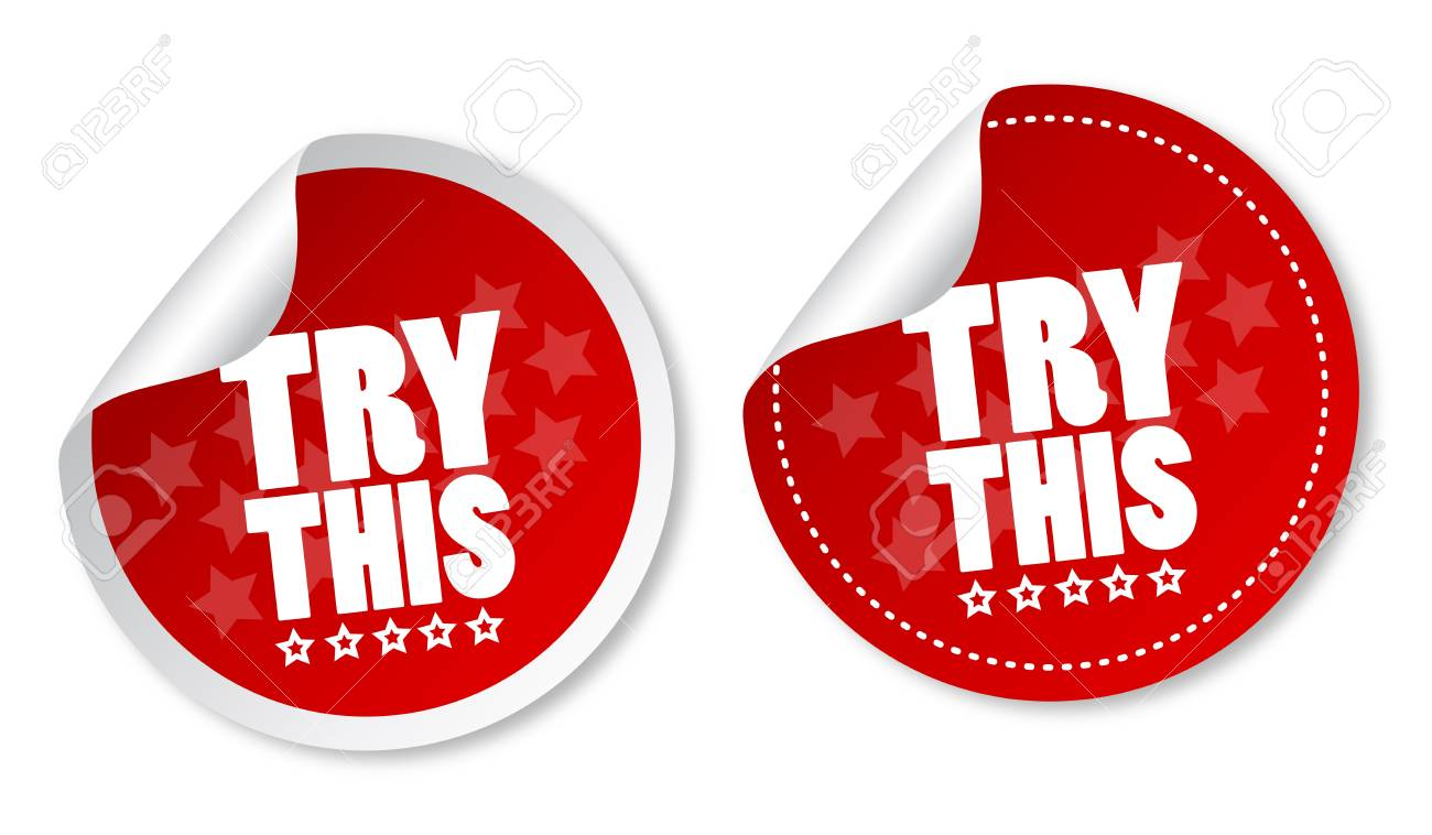 Try this stickers Stock Vector - 13765483
