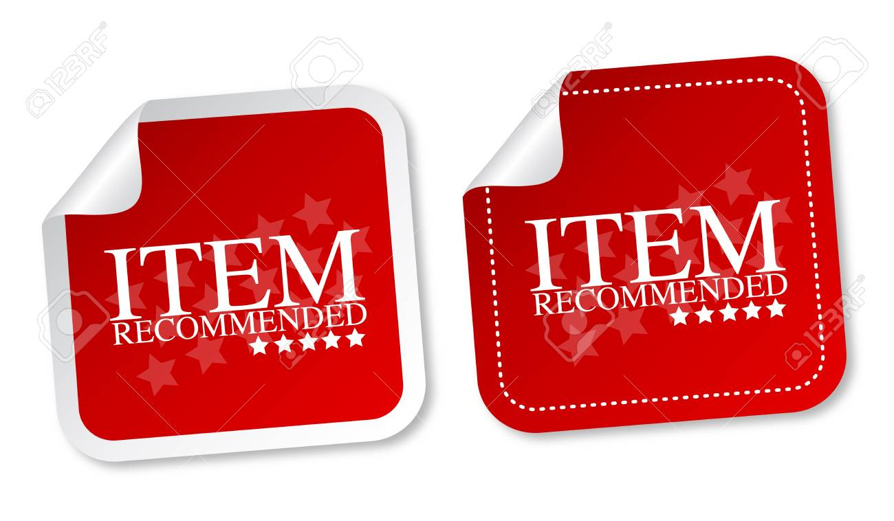 Item recommended stickers Stock Vector - 14187440