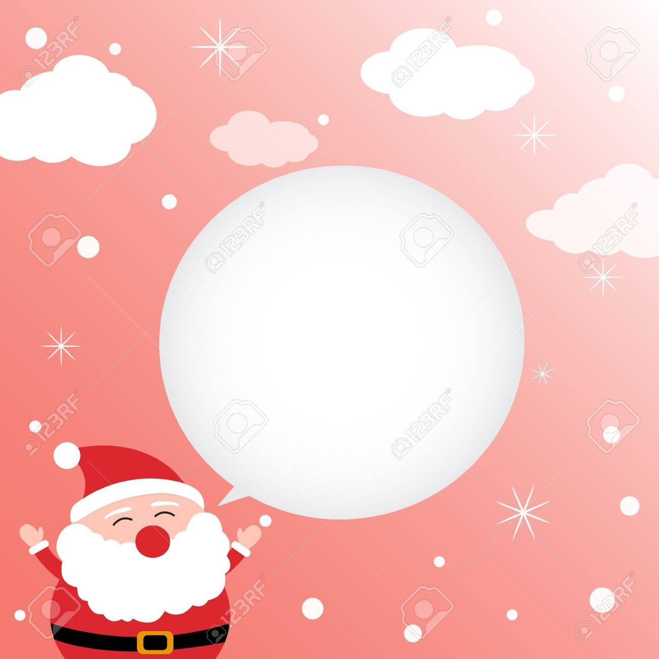 Christmas card with happy Santa Claus Stock Vector - 15391131