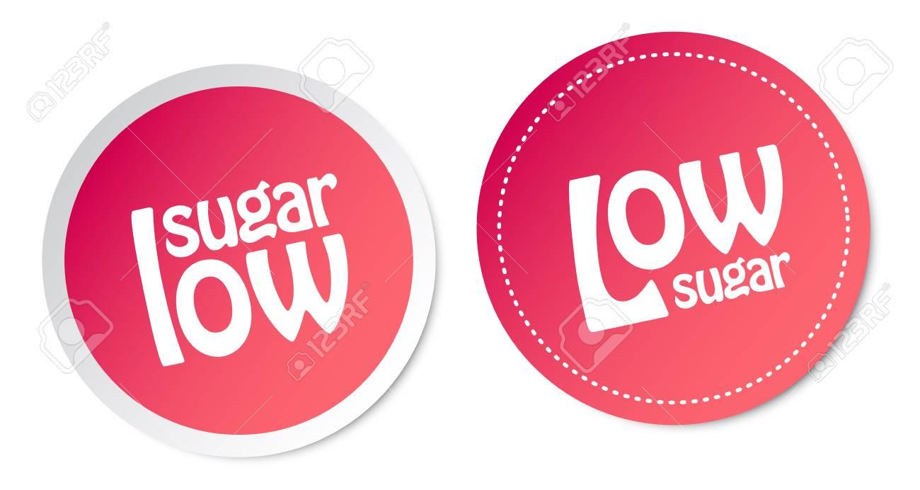 Low sugar stickers Stock Vector - 16602223