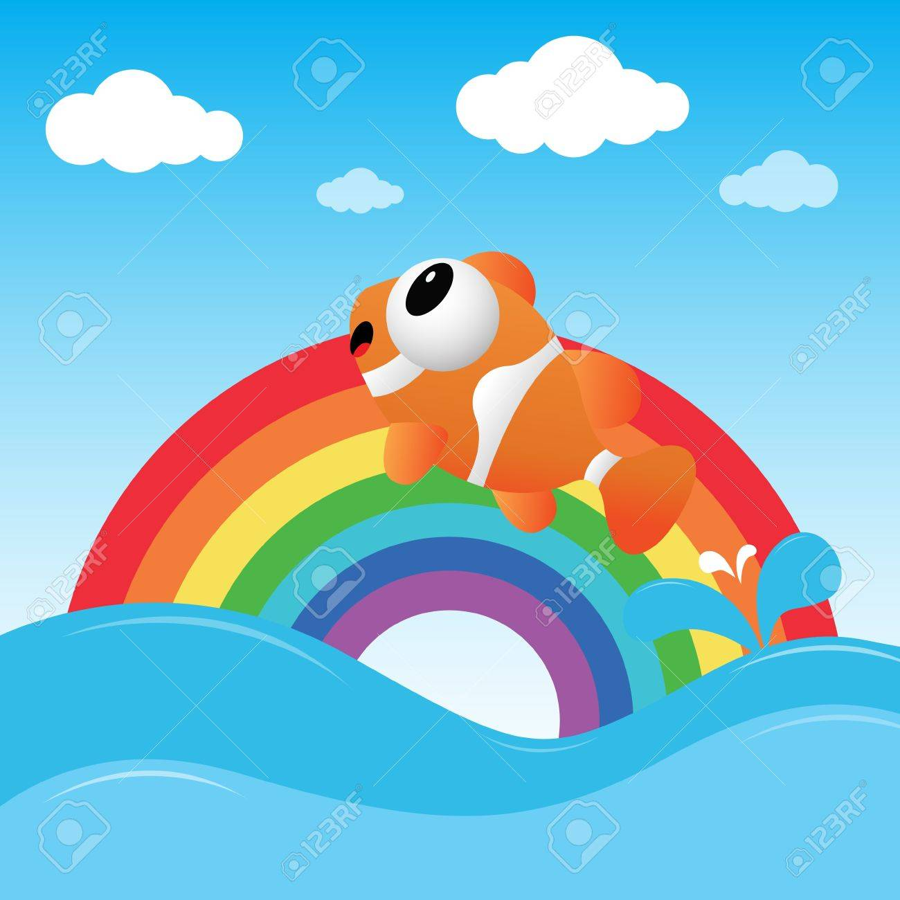 Fish jumping out of the water Stock Vector - 17588882