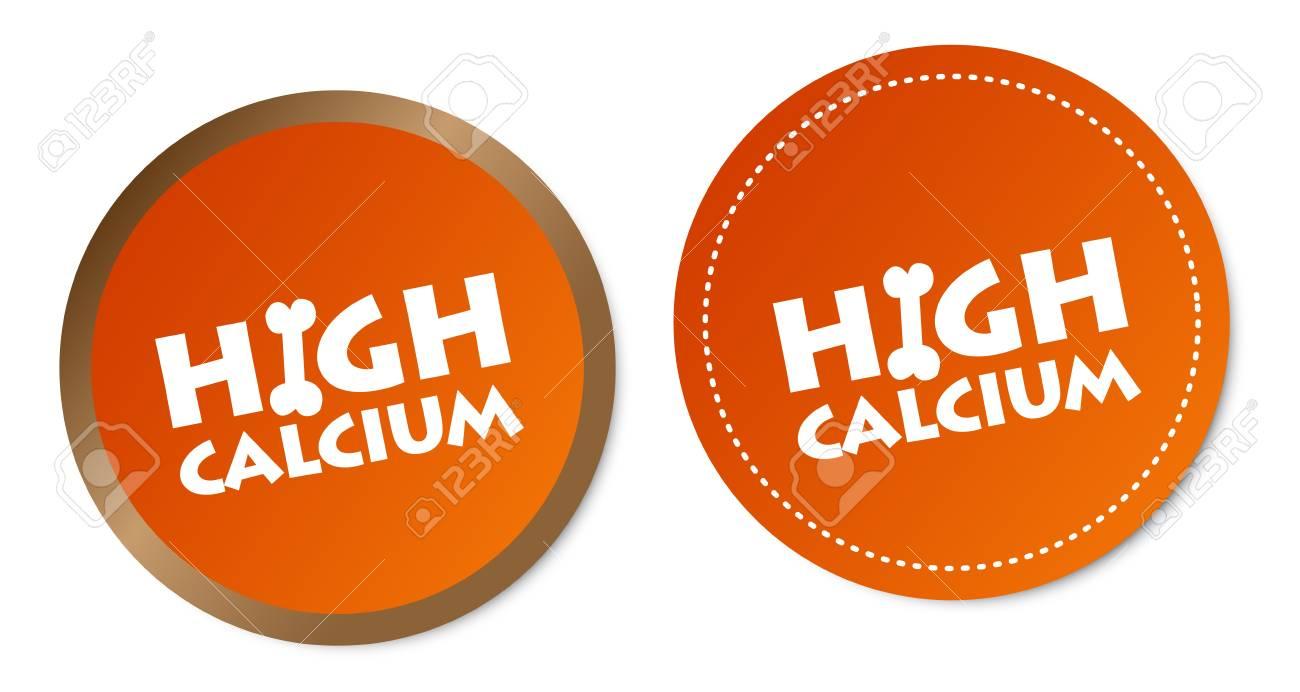 High calcium stickers Stock Vector - 17747526